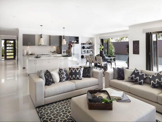 Pin By Luxxu Modern Design Living On Cool House Stuff Open Plan Living Room Open Plan Kitchen Living Room Home Living Room