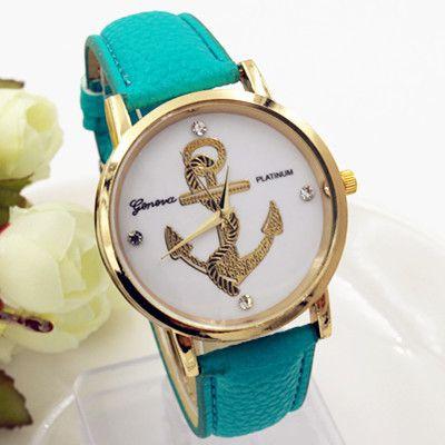 Дешевое 9 цветов новинка якорь часы кожа женева часы для женщин платье часы кварцевые часы CN0641 2, Купить Качество Наручные часы непосредственно из китайских фирмах-поставщиках:        Примечание         :   Inorder предложить клиентам более дешевые продукты, наша компания начать использовать  Бол