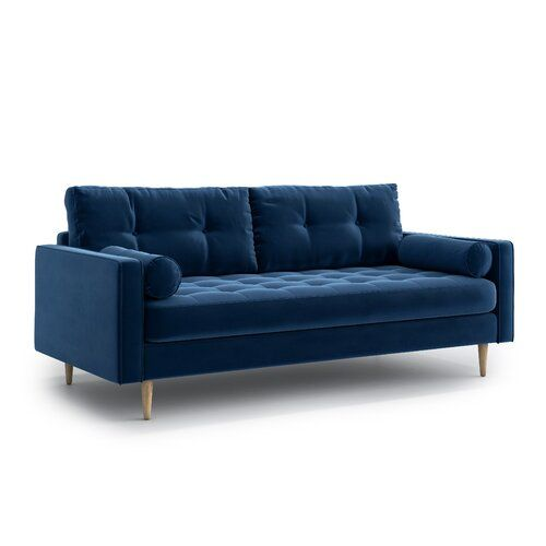 Stead Ii 3 Seater Sofa 17 Stories Upholstery Colour Navy Blue Sofa Bed Sofa Sofa Bed Uk