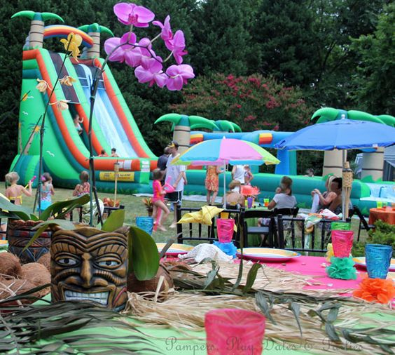 pampers play dates and parties real parties amazing backyard luau