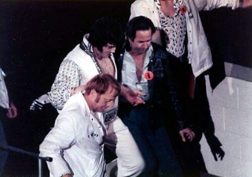 March 19, 1976 - Elvis exiting from the stage - Johnson City, Tennessee
