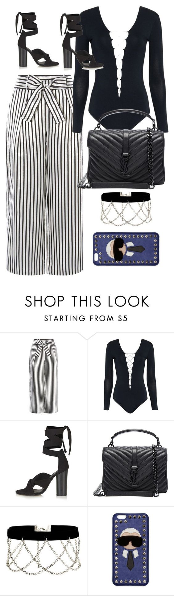 """Untitled #9852"" by katgorostiza ❤ liked on Polyvore featuring Karen Millen, Alexander Wang, Topshop, Yves Saint Laurent, New Look and Fendi"