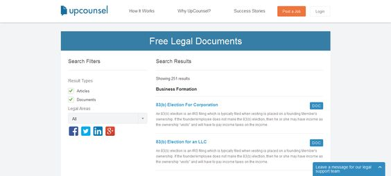 Free Legal Documents   wwwupcounsel/free-legal-documents