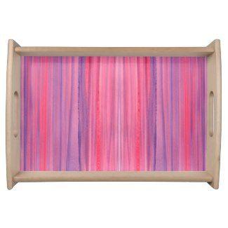 Striped Serving Tray | Watercolor Home Decor