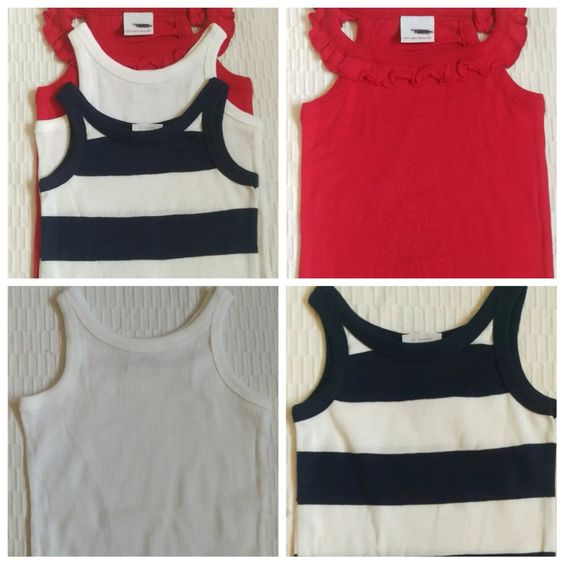 NEXT pack x3 girls vest t-shirts  Sizes 12-18 months, 2-3, 3-4 years £3.99
