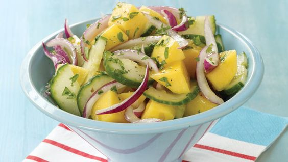 Mango and Cuke Salad - Perfect summer salad for a backyard BBQ. Only costs $5.85 to make.