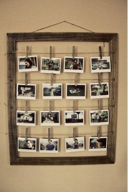 Fotografías colgadas con pinzas de ropa                                                                                                                                                      Más