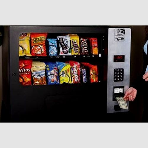 14 Column Electronic Tabletop Snack Vending Machine With Bill