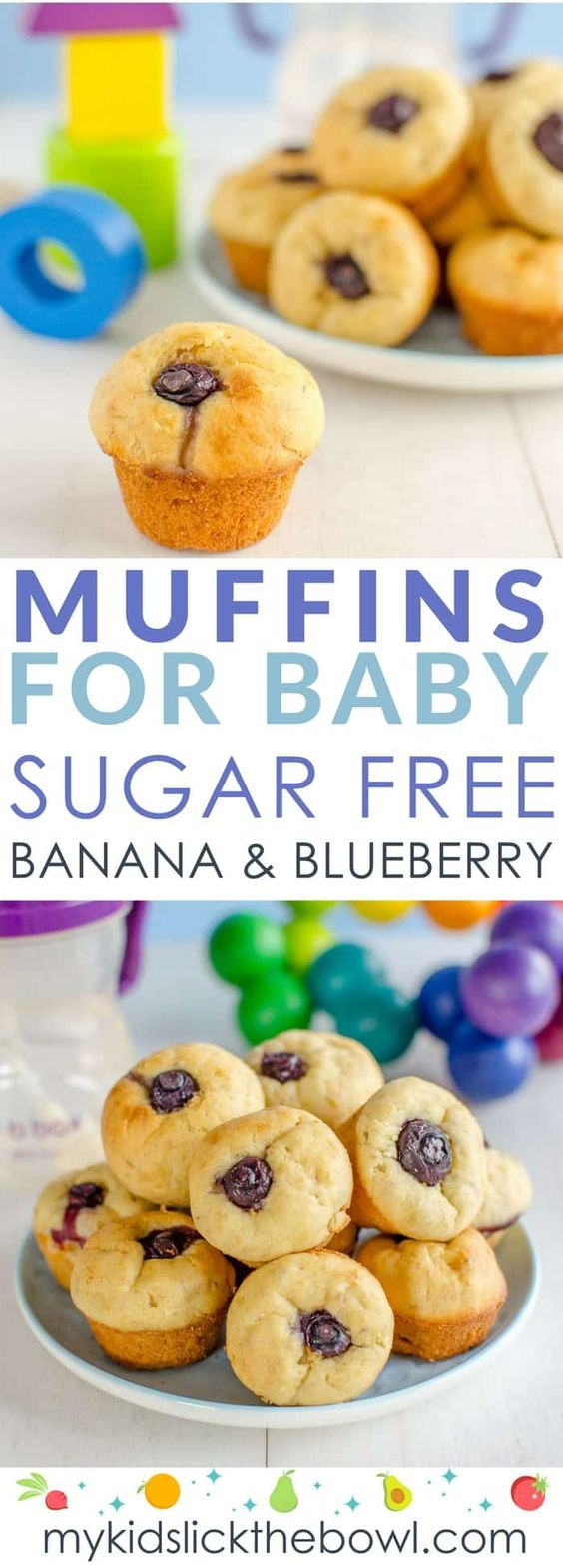 First Muffins For Baby - Banana and Blueberry