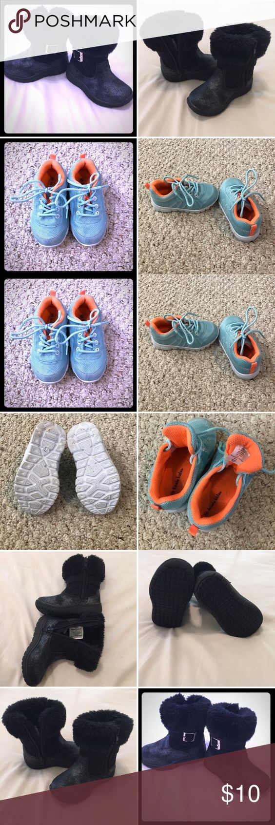 RESERVED listing for jill16 Reserved listing for @jill16. Aqua and orange sneakers and black osh kosh boots.  Please see original listings for details, condition, sizes, etc. thanks! Osh Kosh Shoes