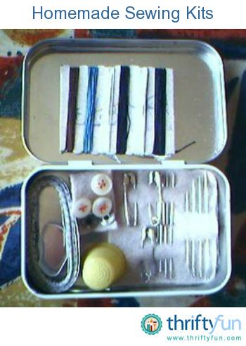 This is a guide about homemade sewing kits. A sewing kit is not only a great gift idea, but also a nice item to have in your purse or desk at work.