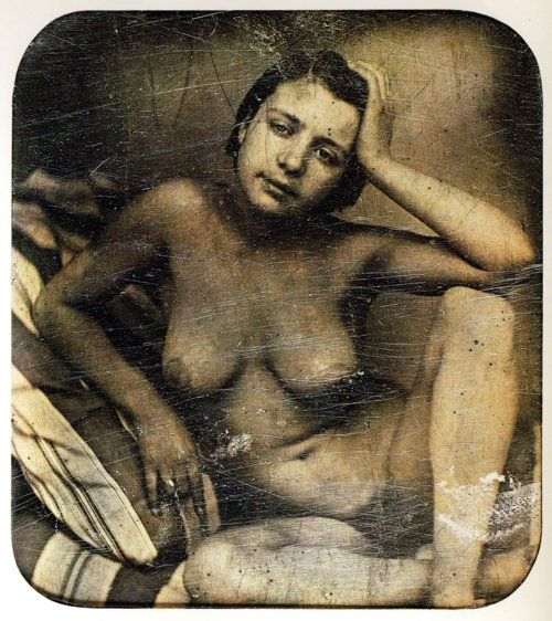 …daguerreotype of French prostitute, c. 1855…: