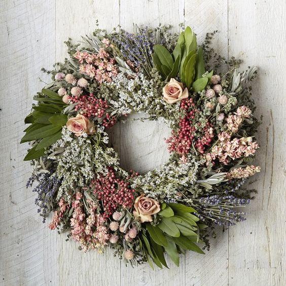 Pink Rose Garden Wreath | Williams-Sonoma