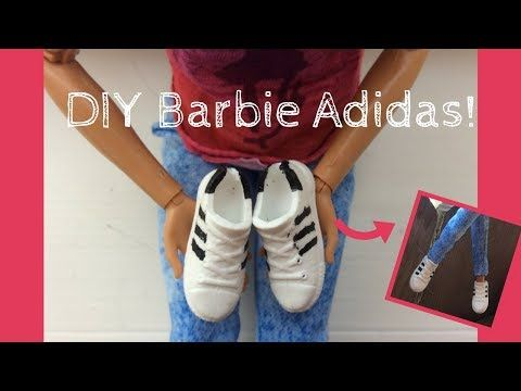 DIY Barbie Adidas shoes! YouTube