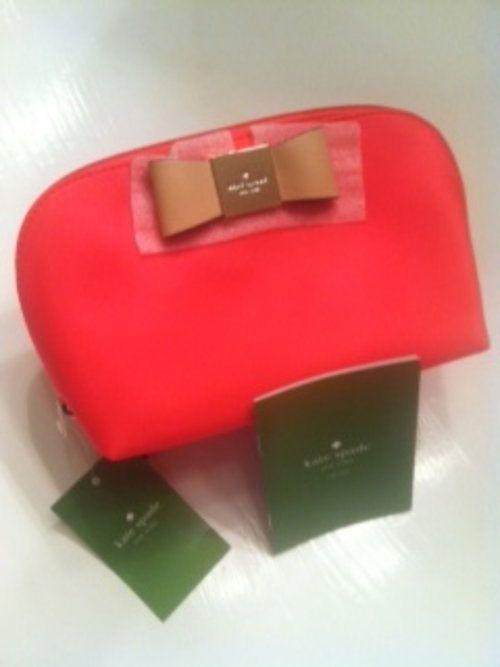 AUTHENTIC (NWT) Kate Spade Veranda Place Annabella Geranium Cosmetic Case - $70