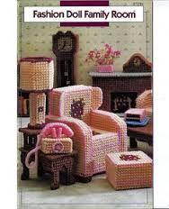 stitch doll furniture in plastic canvas free pattern - Google Search
