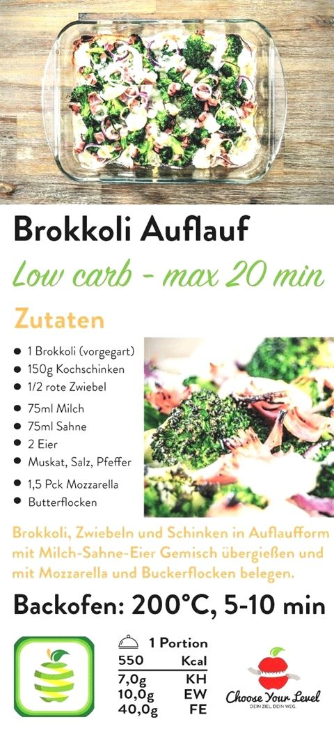 Rezept Fur Low Carb Brokkoli Auflauf Abnehmen Ernahrung Schnell Extrem Gesunde Di Salad Recipes Healthy Easy Broccoli Recipes Salad Recipes Healthy Lunch
