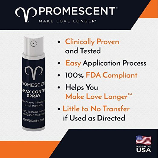 Amazon Com Promescent Prolonging Delay Spray For Men Clinically