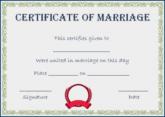Realistic Fake Marriage Certificate Template Fake Marriage Certificate Fake Marriage Certificate Template Marriage Certificate Template