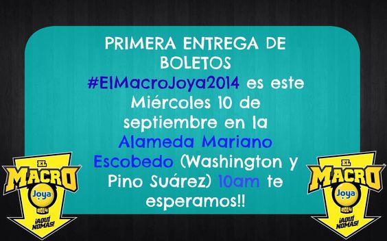 Mañana pendiente de la 1ra entrega de boletos para el Macro Joya 2014 de La Mejor FM Monterrey