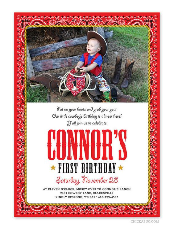 Country Western party  Set of 15 custom photo by Chickabug on Etsy, $30.00