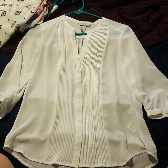 H&M top White see thru dress top H&M Tops Blouses