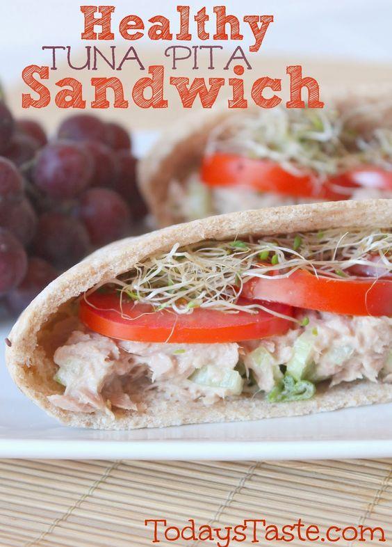 Healthy tuna pita recipe for Healthy tuna fish recipes