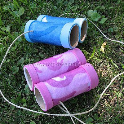 Binoculars - craft for the kids