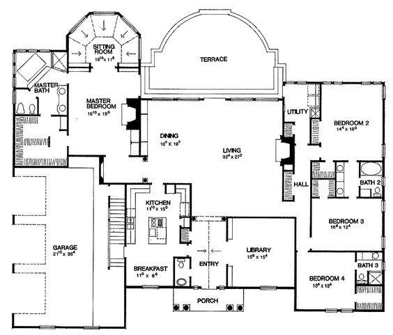 4 Bedroom Ranch House Plans House Plans Pricing