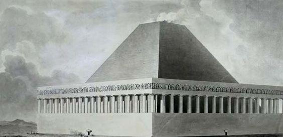 Etienne-Louis Boullée - Tombeau d'Hercule et autre tombeau qui fait pendant au précédent