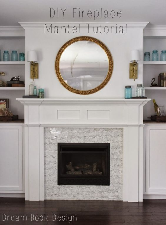 DIY Fireplace Mantel Tutorial Dise O Chimeneas Y