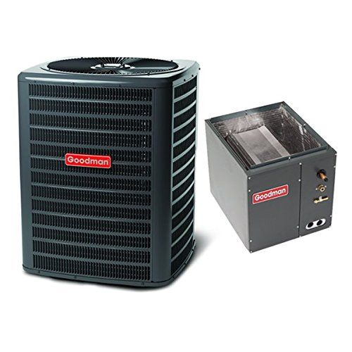 Goodman 3 Ton 14 5 Seer Air Conditioning System With Upflow Downflow Evaporator Coil Air Conditioning System Air Conditioning Installation Split System Air Conditioner