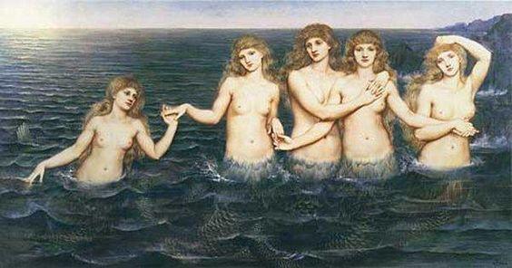 Evelyn De Morgan - les petites filles de la mer