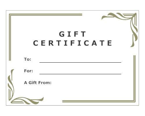 Modern Gift Certificate | Certificates | Pinterest | Gift ...