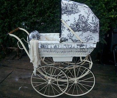Victorian restored baby pram/antique/vintage/coach style le ...