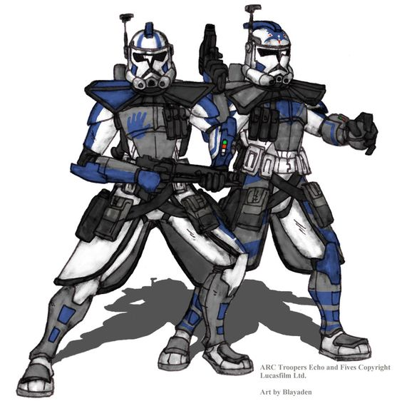 ARC Troopers Echo and Fives Colored by Blayaden.deviantart.com on @deviantART