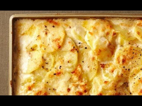 طريقة عمل صينية بطاطس بالجبن بالفيديو Youtube Scalloped Potato Recipes Cheese Scalloped Potatoes Scalloped Potatoes