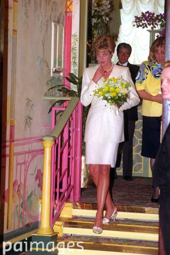 June 29 1993  Princess Diana arrives at today's Lunch and Fashion Show in aid of the Chicken Shed Theatre Company Building Fund.