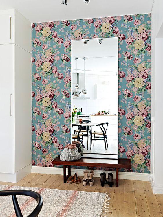 Dissem que a primeira impressão é a que fica, então, que tal apostar na decoração do seu hall de entrada? - Papel de parde - www.perfildecor.com.br: