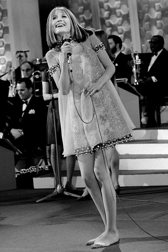 Sandie Shaw - Eurovision 1967 winner with Puppet On A String. I remember watching the winning performance