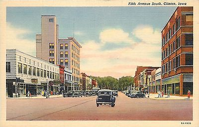 #Clinton iowa~goldman's jewelry~art deco bldg on #fifth avenue~1938 #cars~postcar,  View more on the LINK: 	http://www.zeppy.io/product/gb/2/291700147243/