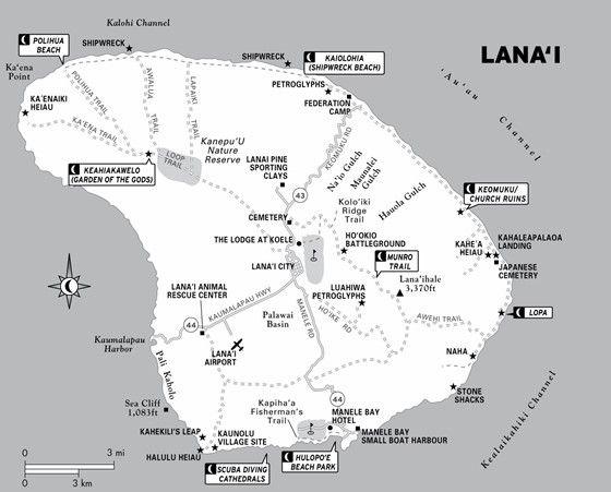 kauai bus route map Lanai Map 1 Kauai Map Lanai Maui Map kauai bus route map