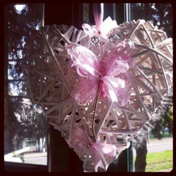 Cuor di farfalla rosa...♡♡♡