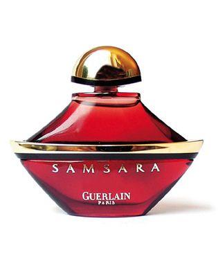 Guerlain Samsara - Would love to try this. Notes: jasmine, ylang-ylang, sandalwood, narcissus, tonka seeds, iris, and vanilla