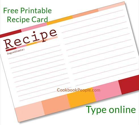 Free Recipe Cards Recipe Cards Recipe Cards Printable Free Recipe Cards Template