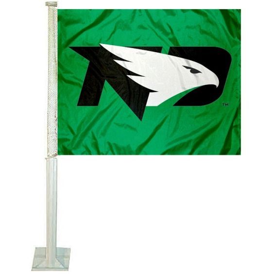 Our North Dakota Fighting Hawks Logo Car Flag measures 12x15 inches, is made of 2-ply polyester, includes a durable pole and bracket, and is...