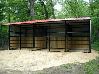 Three sided horse shelter plans google search horse for Three sided shed plans