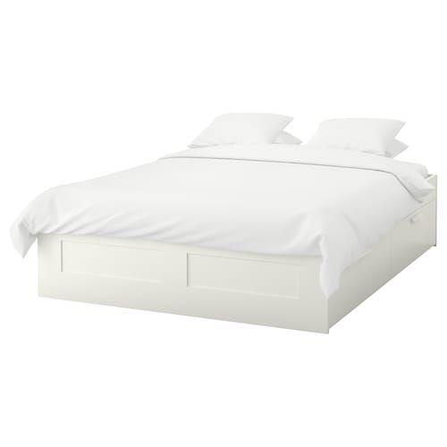 Brimnes Bettgestell Mit Schubladen Weiss Luroy Ikea Deutschland Bed Frame With Storage Brimnes Bed Bed Frame