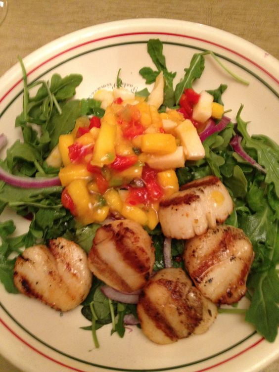 ... grilled scallops and more mango green scallops salsa grilled scallops