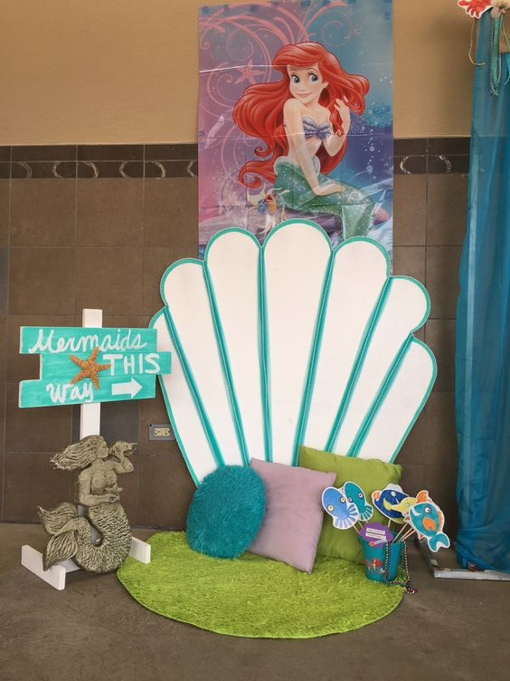 Mermaid Photo Booth Little Mermaid Party Ideas
